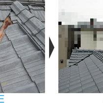 瓦葺の屋根の張替え・雨漏り補修