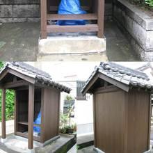 松山市:長年、町内を見守ってきた地蔵堂の改修