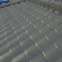 松山市:屋根の洗浄とシリコン塗装